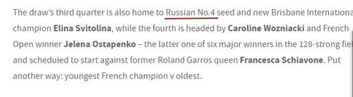 ФЭЙЛ ДНЯ. Официальный сайт Australian Open назвал Свитолину россиянкой